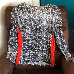 Black, White, Red fashion printed Top
